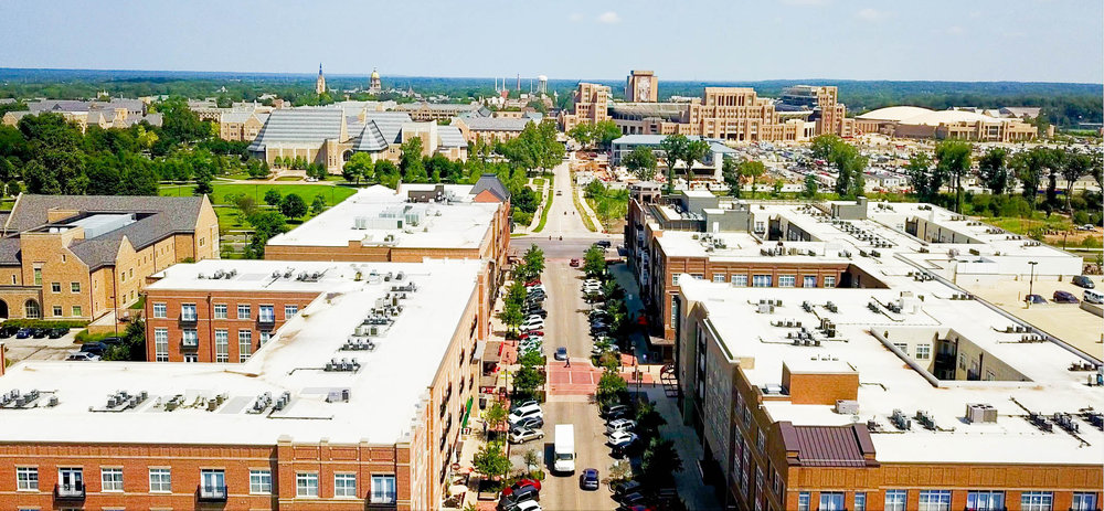 A mile away from University of Notre Dame & Eddy Street Commons