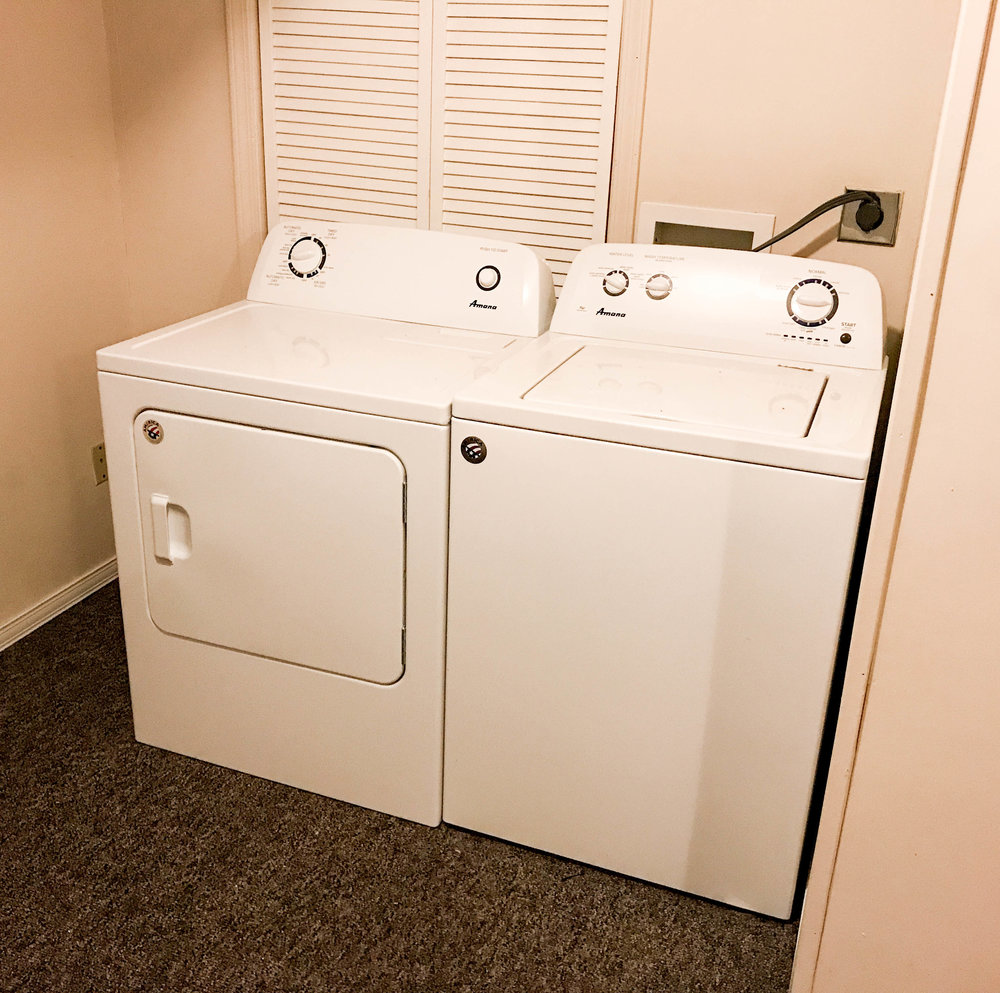 Washer and Dryer included with every unit