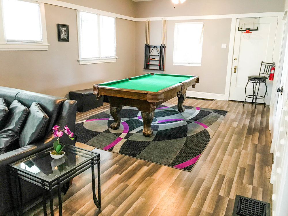 Pool table in the Clubhouse