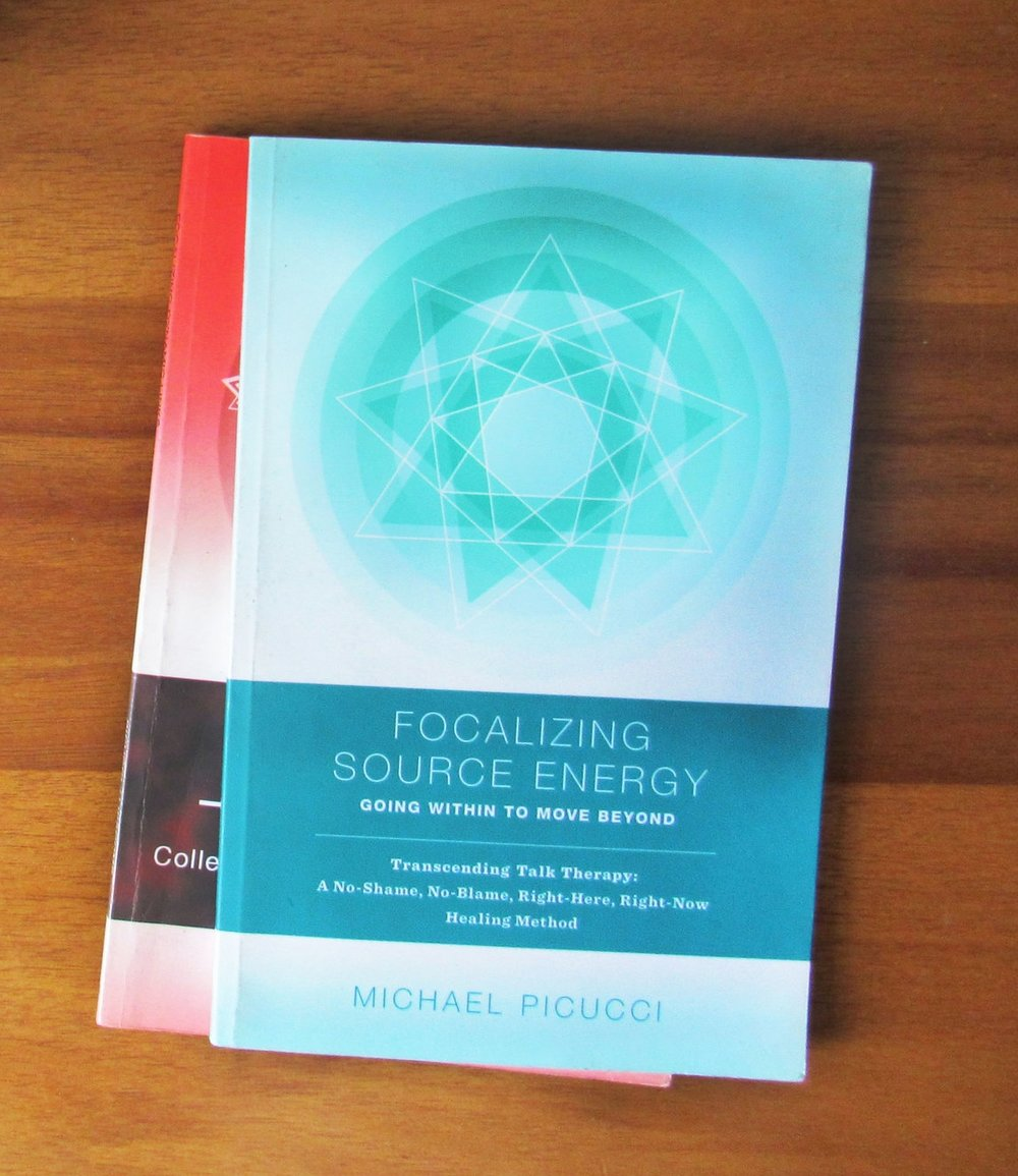 Focalizing Source Energy     Focalizing Source Energy  is the primary book that describes the healing journey Focalizing enables. Focalizing is a no-shame, no-blame, right-here, right-now healing approach that is inspired from recent discoveries in the realms of energy psychology, somatic healing, and neuroscience.