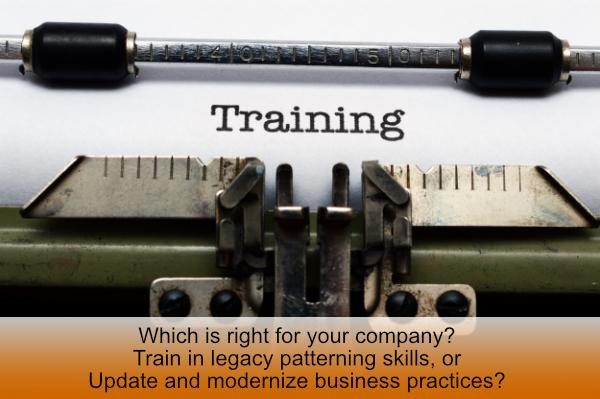 training is legacy manual pattern making skills