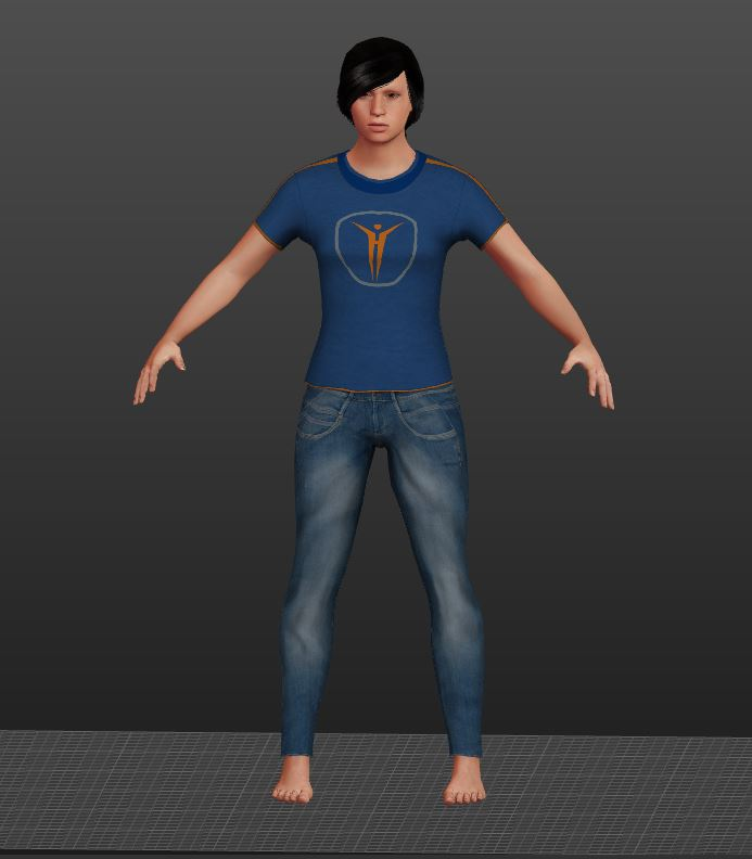 Start with the 3D Avatar or  utilize a 3D parametric model (image courtesy of MakeHuman.org)