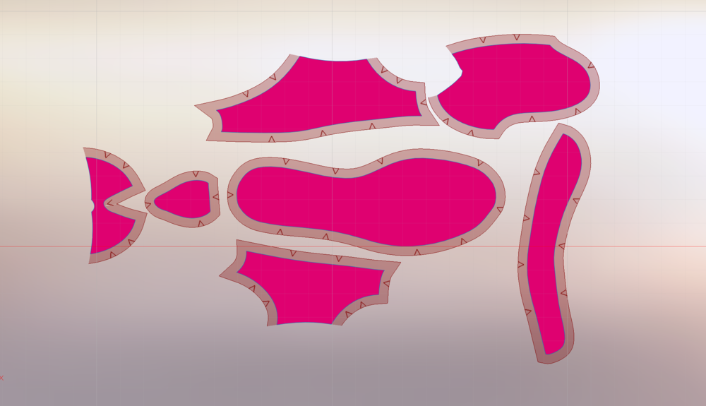Edge associations is an important feature of modern digital patterning tools. This capability links adjacent edges of each pattern piece so that an edit or addition on one side (i.e. a seam or notch) is automatically created in the precise location on the corresponding piece.