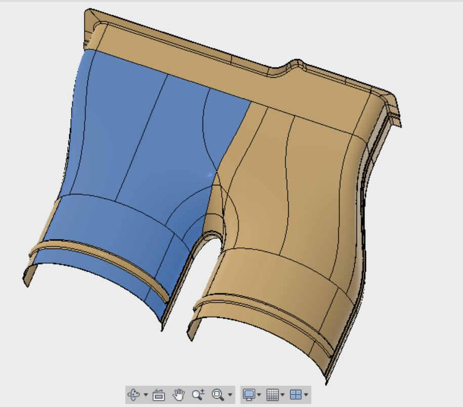 Piece creation tools allow users to break of the design model into the segments that will eventually make up the composite layup components.