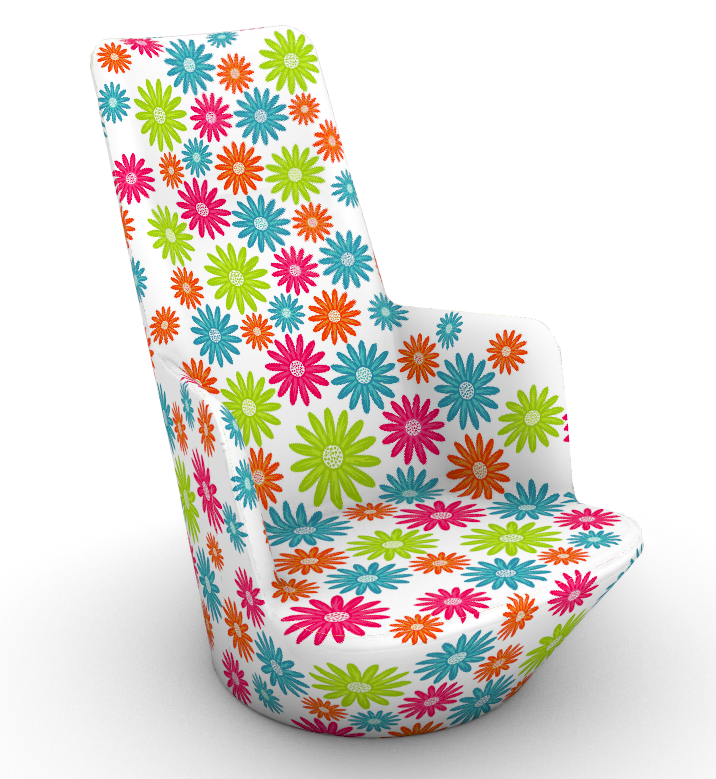Click on the image to see how the team flattened the design, aligned the graphics and then printed, cut and assemble the chair in record time.