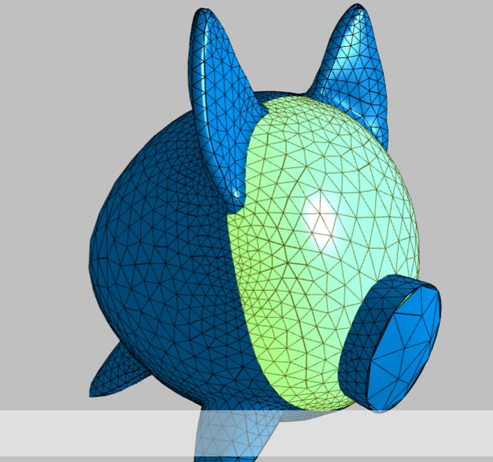 Click on the image to see how in ideal mesh for flattening is created