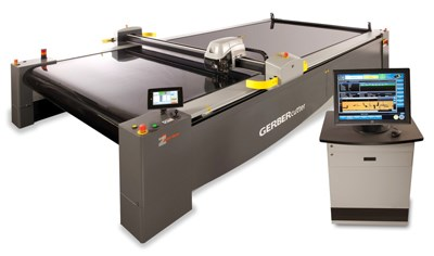 The Gerber DCS 2600 Cutter combines with Gerber labeling and ply identification software to streamline the production process.