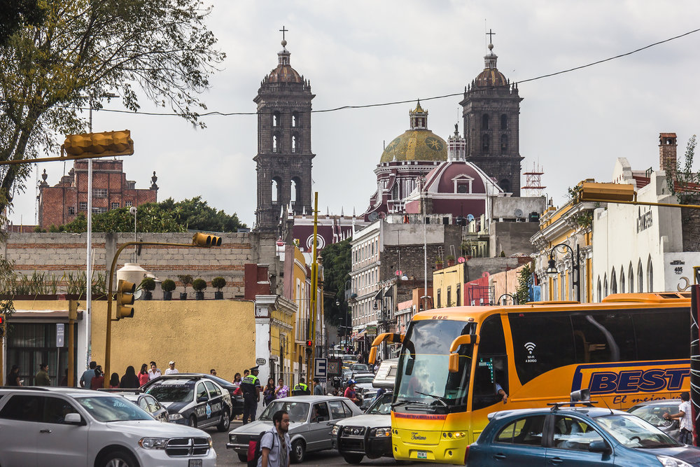 The bell towers of Catedral de Puebla