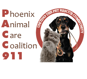 Phoenix Animal Care Coalition 911 (PACC911) - Please support our friends at PACC911, they are huge animal lovers and play a major role in rescuing animals in our communities throughout Arizona. Your donations are tax deductible; get in touch with them today.