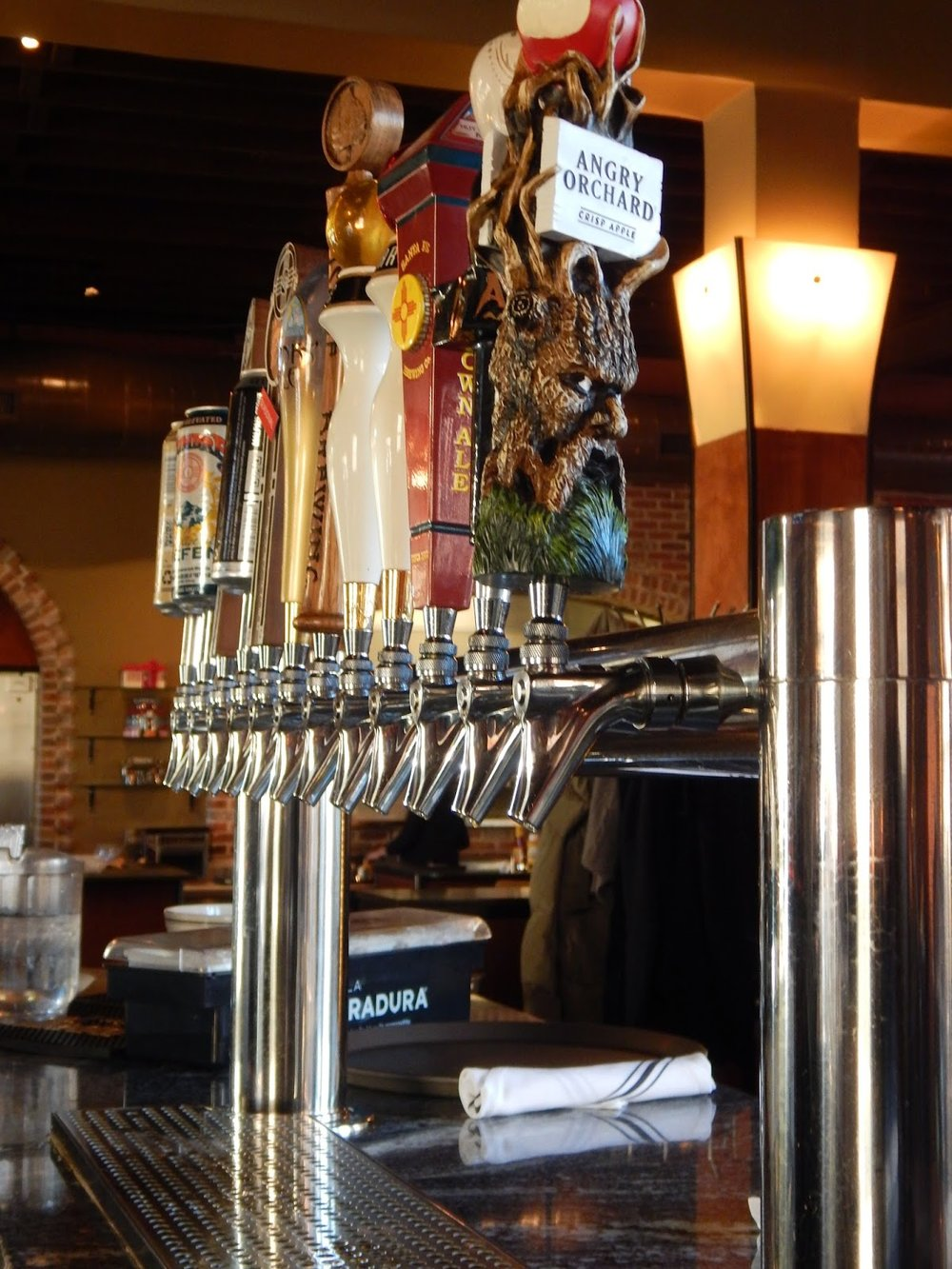 """For beer fanatics, the beverage menu also features over 10 locally brewed beers on tap with interesting names such as the """"Alien Amber Ale"""", """"Monk's Ale"""", and another cleverly named """"A Slice Of Hefen""""."""