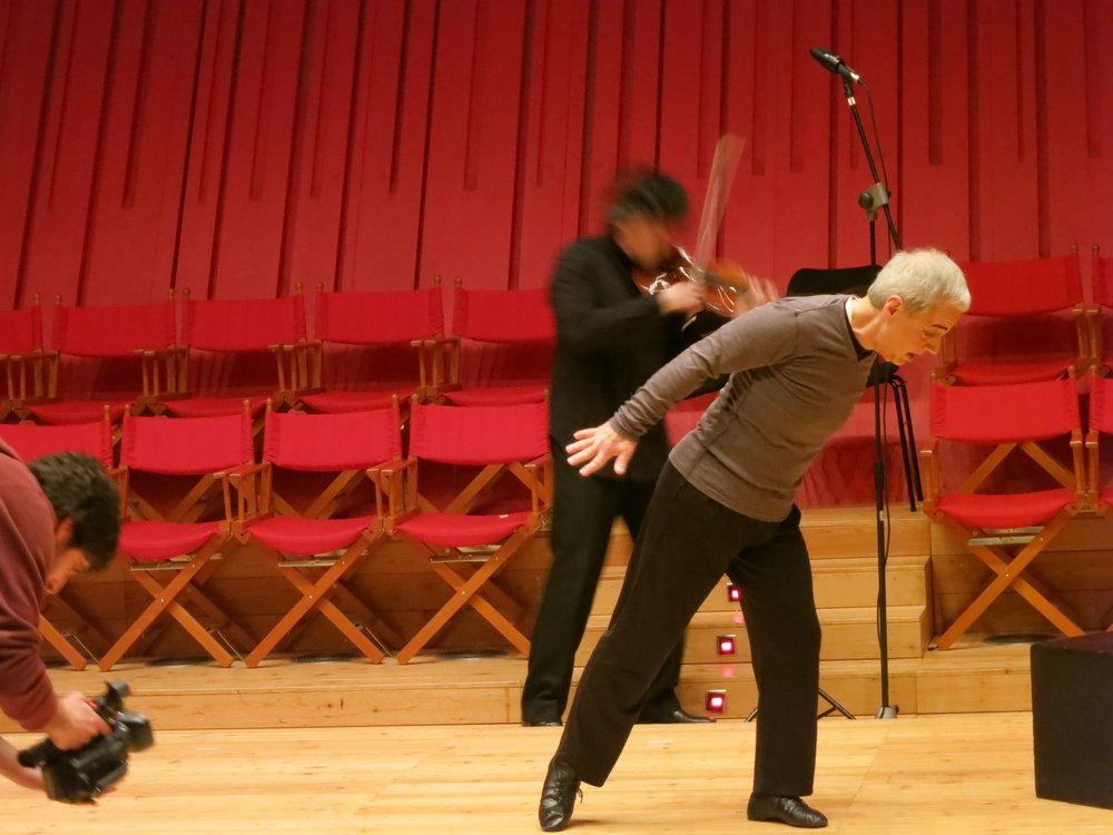 Apocalypse Man ; Bela Bartók's  Sonata for Solo Violin ; World Premiere, L'Auditorium del Parco, L'Aquila, Italy