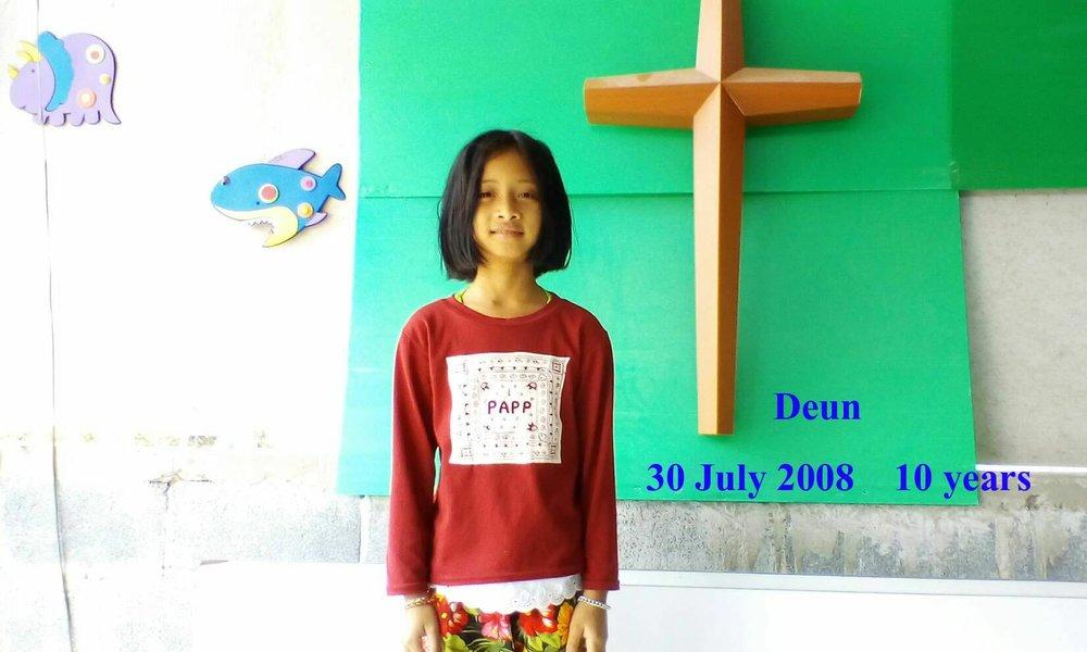 Deun (10 years old, girl)