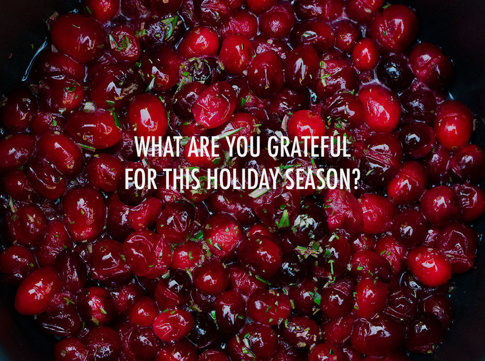 Gratitude, Holiday Champagne Rosemary Cranberries, CB Cuisine, Los Angeles