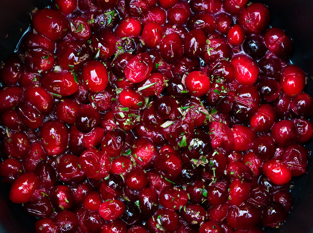 CB Cuisine Cody Beverstock Champagne Rosemary Cranberries