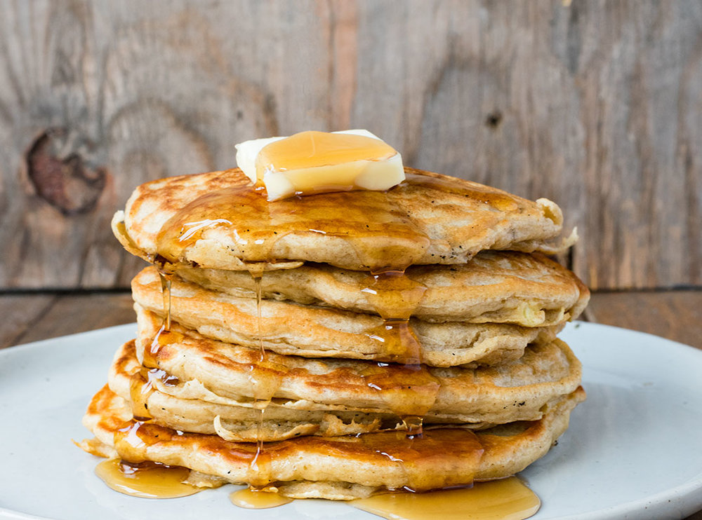 Chef Cody Beverstock I CB Cuisine I Hot Apple Cinnamon Oat Pancakes I Vermont Maple Syrup Recipe
