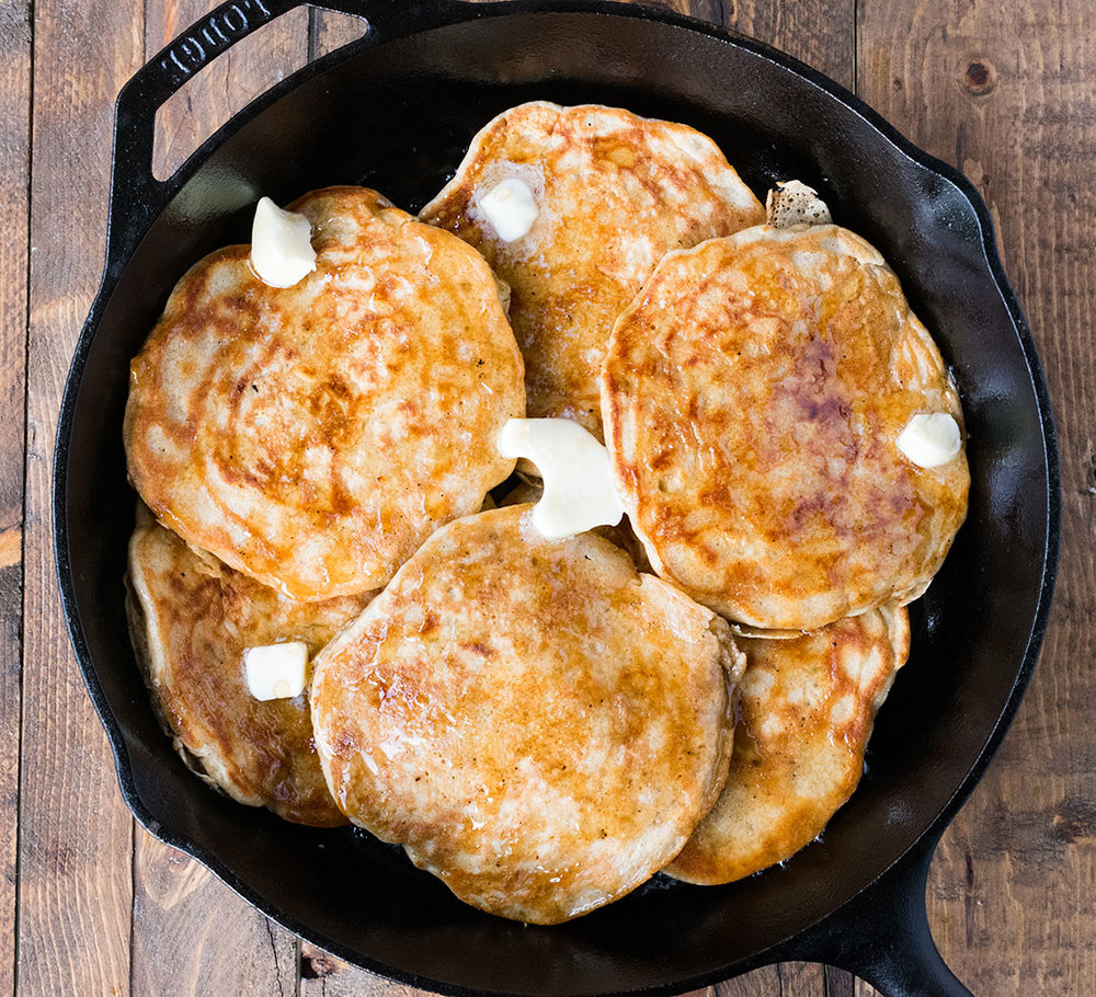 Chef Cody Beverstock I CB Cuisine I Cast Iron Hotcakes I Rosemary Maple Syrup Recipe