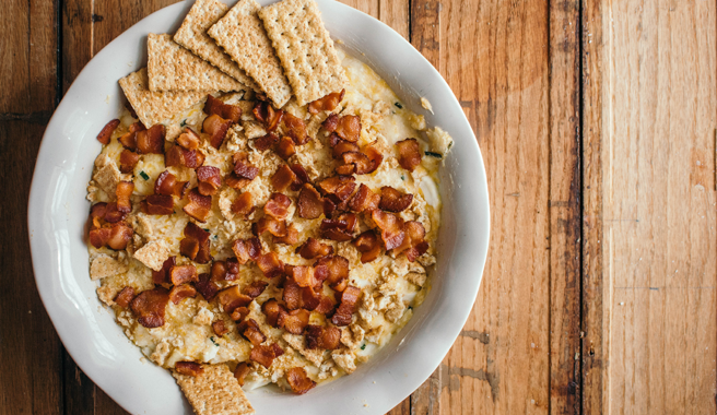 The beauty of a Charleston Dip is it is creamy, crunchy and full of flavor!