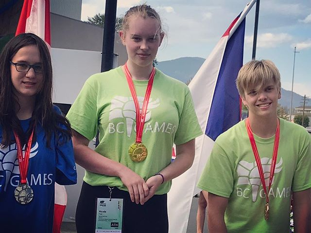 Bronze and silver medals for Tyee's very own Nicole and Callum today at B.C. Summer Games: congratulations! #zone6 #bcsummergames #bcgames #cowichanvalley #swimming #podium #gold #bronze #1 #3 #congratulations #bravo #fridaymood #vancouverisland #champion #championship #bigrings #squad