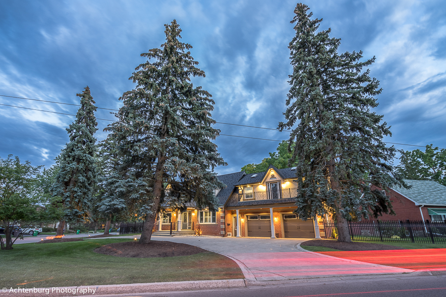 night real estate photography -