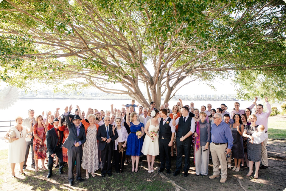 Group Photo at Eves on the River Wedding