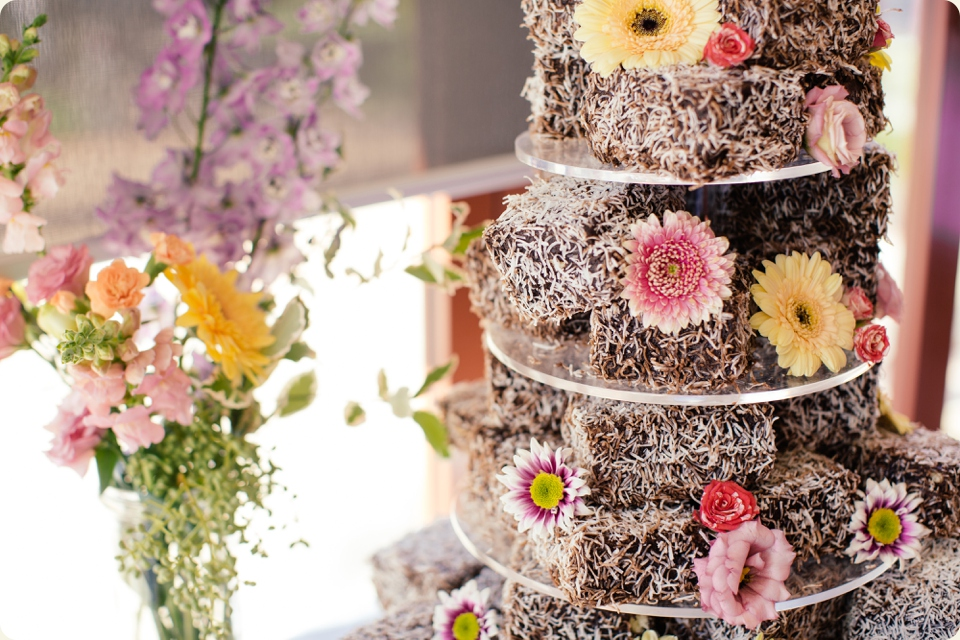 Lamington Wedding Cake