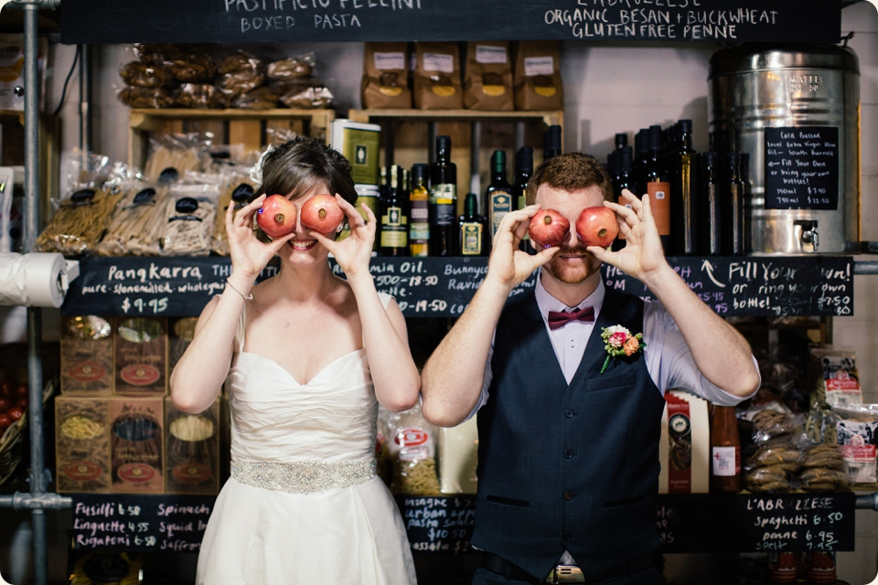 Bride & Groom with Pomegranate Eyes
