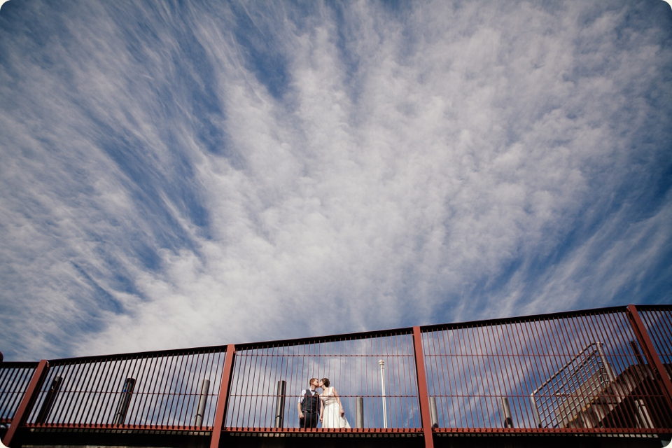 Bride & Groom Blue Sky