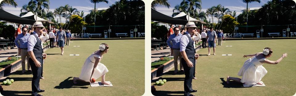 Bride & Groom Lawn Bowling Merthyr Bowls