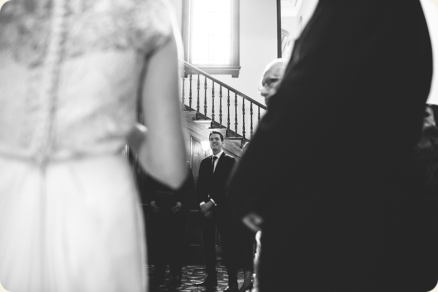 Groom waiting for Bride at Old Government House Brisbane