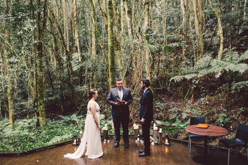 bride and groom romantic elopement