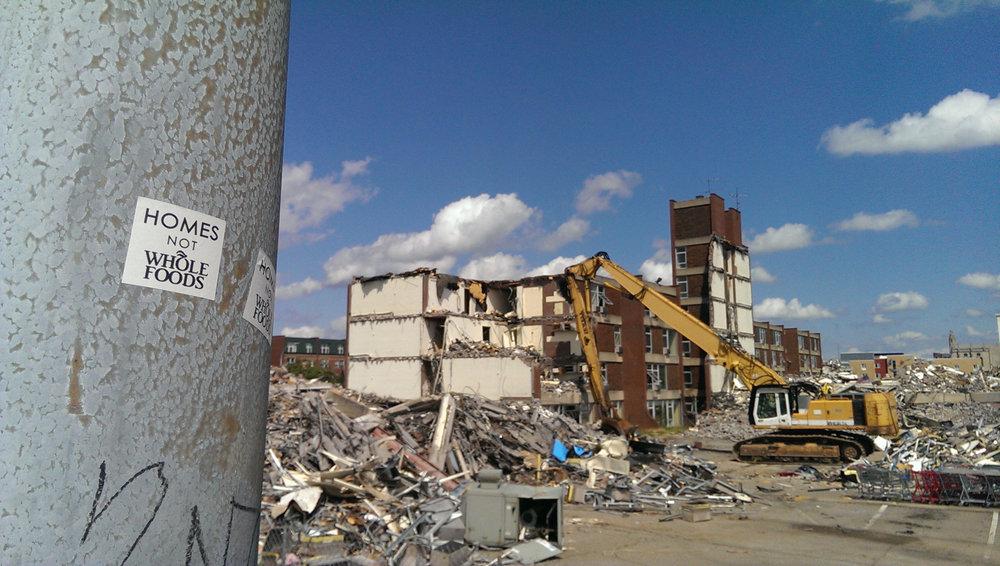 Demolition of Penn Plaza   https://thecoolmedium.com/tag/pittsburgh/