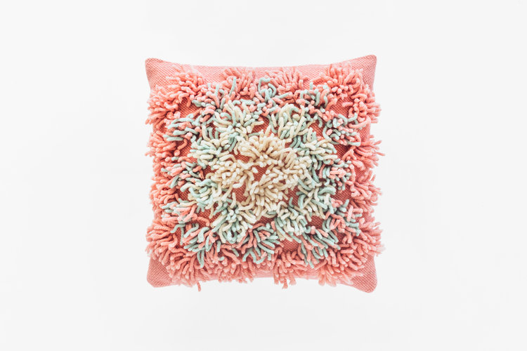 Shag Plaza Pillow In Rusty Pink Soft Century Contemporary Area