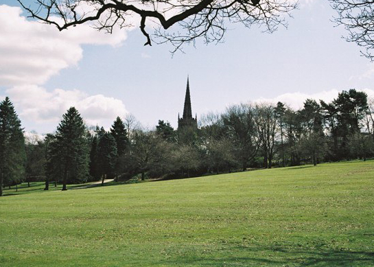 View across the park