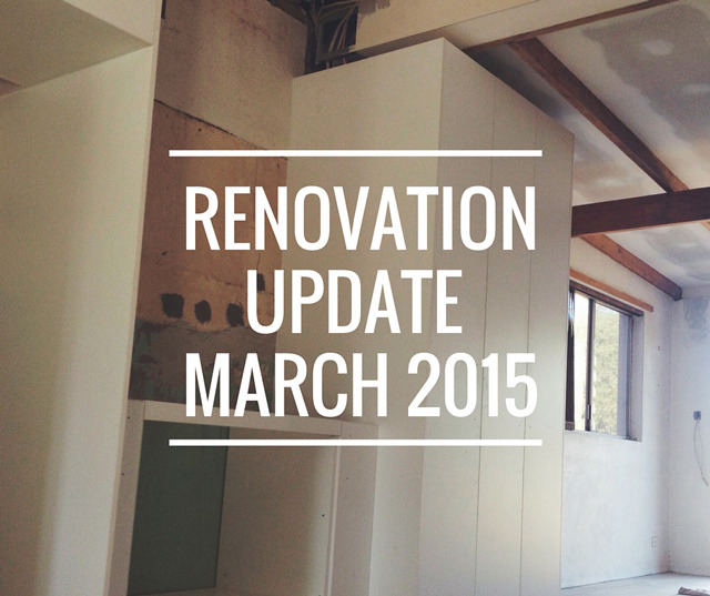 Renovation Update March 2015