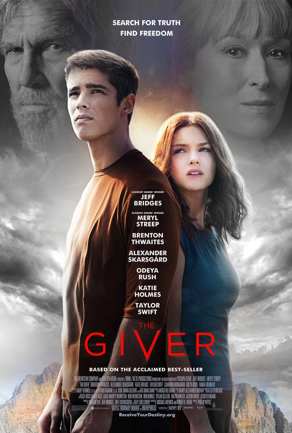 Episode 12: The Giver - In a seemingly perfect community, without war, pain, suffering, differences or choice, a young boy is chosen to learn from an elderly man about the true pain and pleasure of the