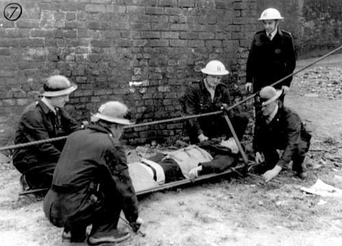 ARP Rescue services practicing using stretchers, 1941 ( Leodis Archive )