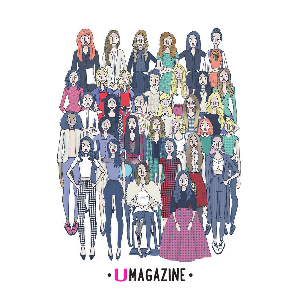U MAGAZINE- 30 UNDER 30 - I was given the amazing task of illustrating all of the amazing winners of the first annual U Magazine 30 under 30 awards. I loved being part of such an amazing event that celebrates Irish talent.