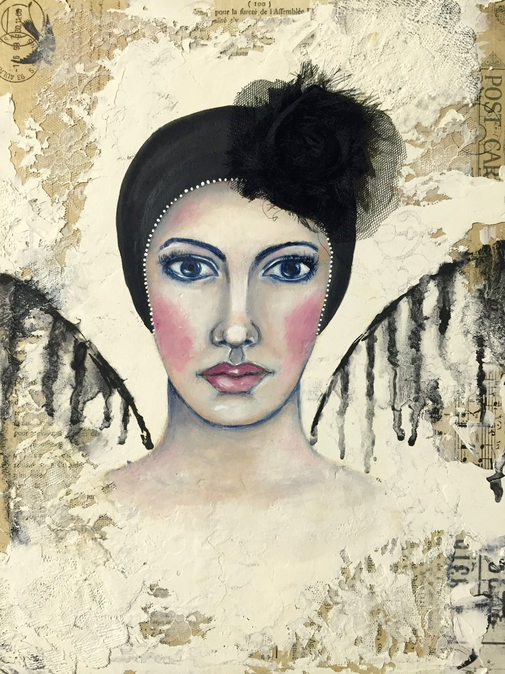 SOLD  Dark Angel - Mixed Media