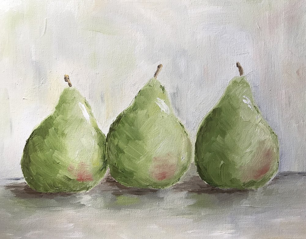 Three Green Pears  *Awarded Special Recognition