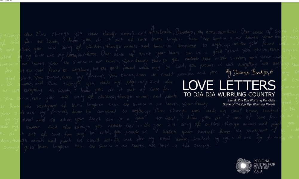Click to link to the digital edition of  Love Letters to Dja Dja Wurrung Country