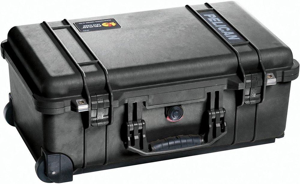 Pelican 1510 Case - My family got me this case for Christmas last year and it's been a good travel companion. I have the option with the padded dividers and it's enough to hold my lenses, all three cameras and accessories. I use it mainly when traveling to different locations and it's best asset is that it can fit in most carry on bins.