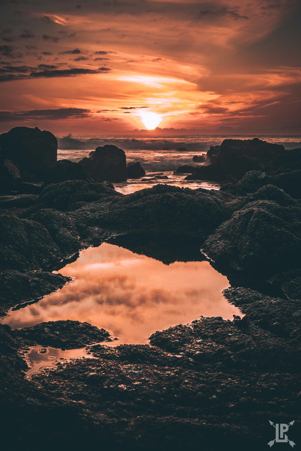 Canon 5D Mark IV, 24-105mm   f/22, 1/5 sec, ISO 400  One of the tidal pools between Asilomar Beach and Lover's Point at sunset