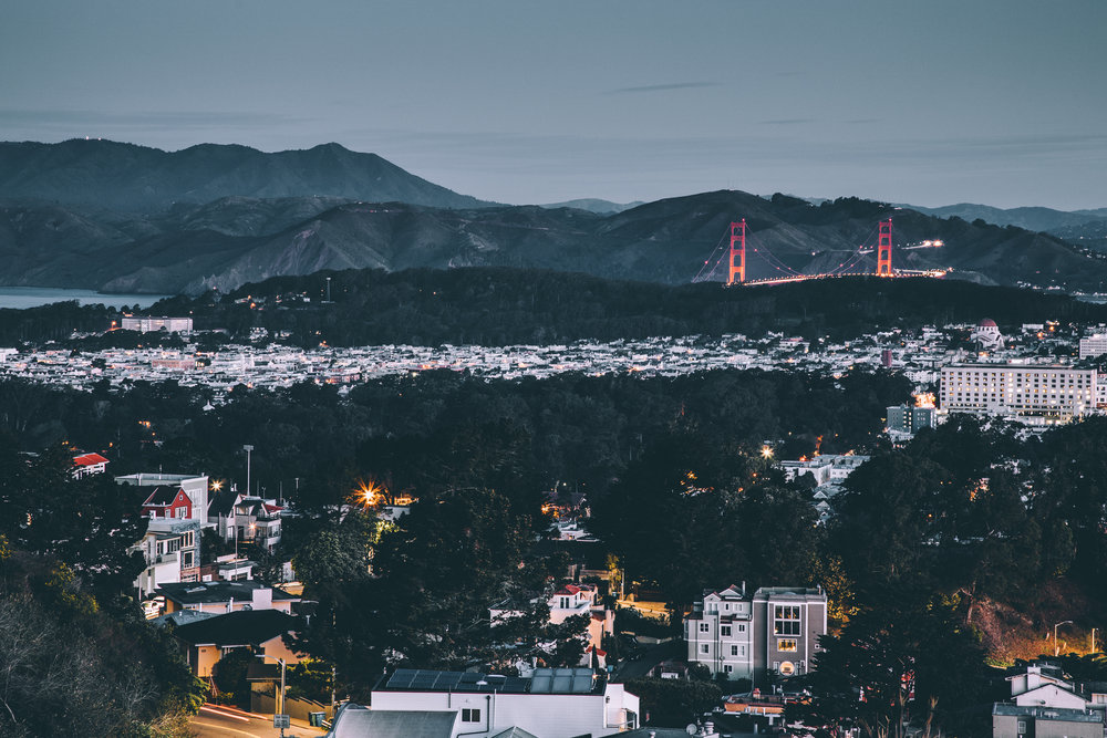 """Twin Peaks vantage point of the Golden Gate Bridge  Canon 5D Mark IV, 24-105mm 