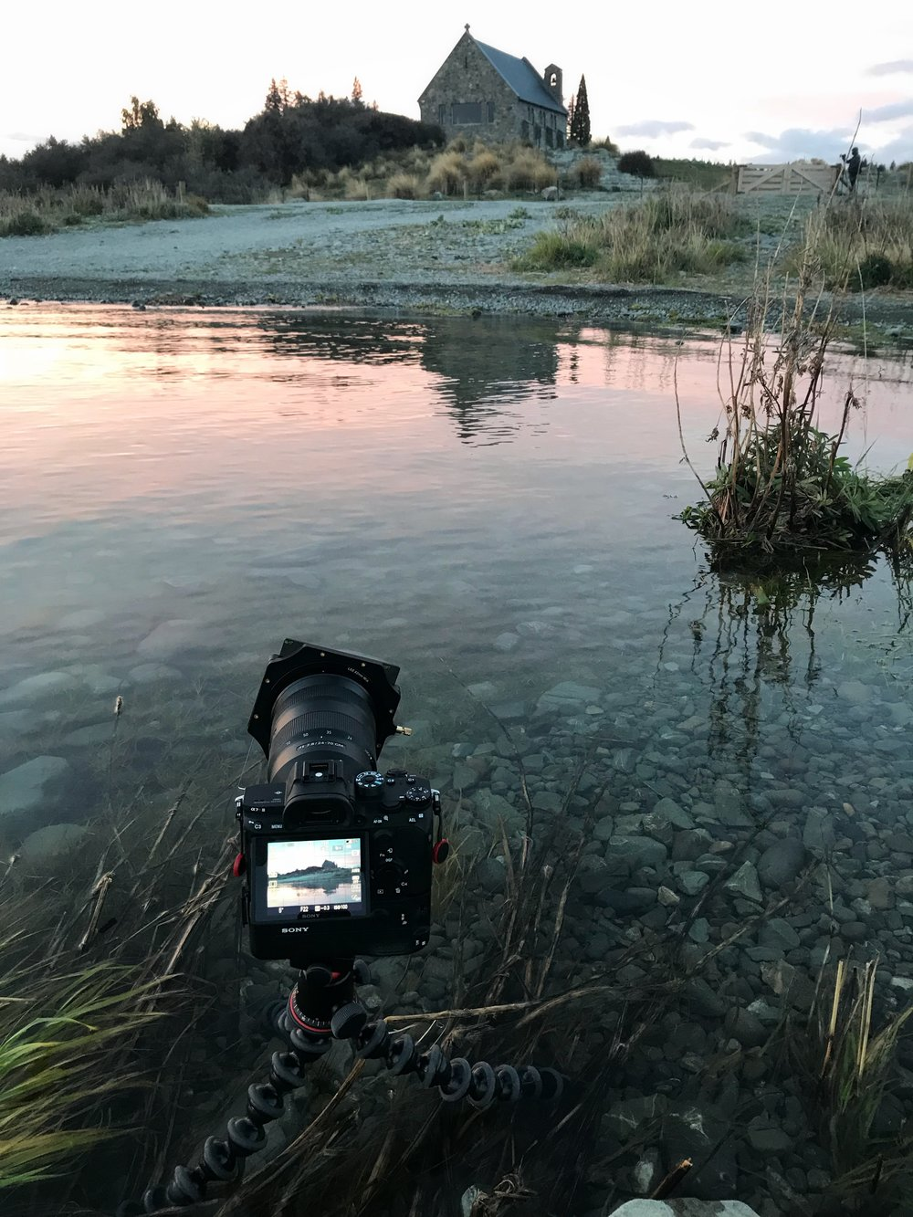 Using the Joby Tripod to Photograph Church of the Good Shephard in New Zealand