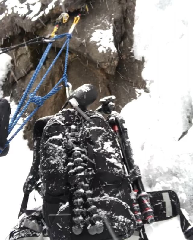 Ever wonder what it takes to get a shot? For this photo we took an entire team to Steamboat, CO. We brought up ice climbing equipment, models, gear and an abundance of cold weather gear. We then hiked to a frozen waterfall, lugging all our our gear along the way. We had to plan a spot for three photographers and then figure out a way to safely place them to where they could capture the climbers while not getting other photographers in the shot. Simultaneously we had to keep our lenses dry from the snow coming down and ensure the models didn't get smoked from climbing up and down all day. All this to simply get one shot. At the end of the day your prep is what will always pay off the most.  Luckily I get to work with studs like @ryanedwardvisuals and @ty_pruitt who make getting shots like this achievable. A shot like this is achieved only by a team, not by an individual and credit should always go to the group, not to the guy who just captured the image that everyone worked to provide them. @clandestine_media