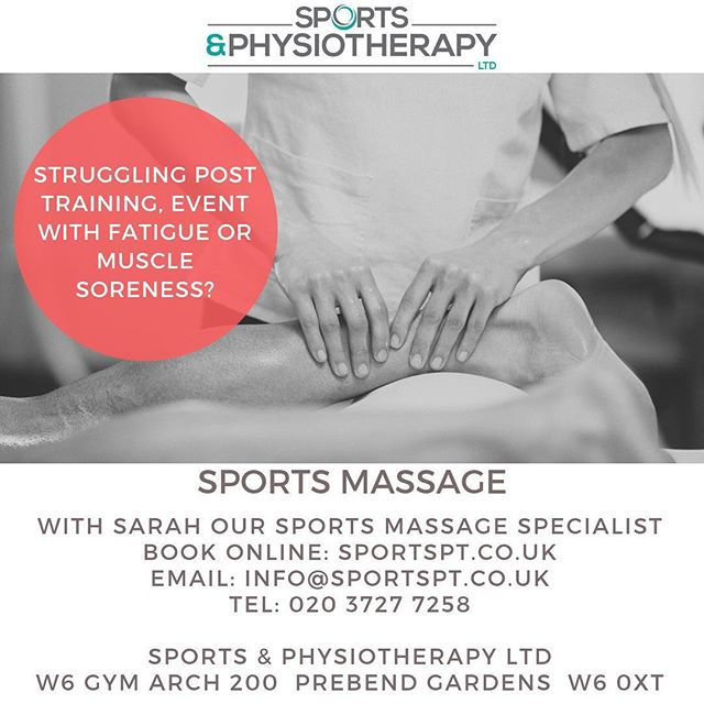 Need to recoup after a heavy weekend or prepare for next week. Book in a sports massage with Sarah our amazing rehabilitation and soft tissue therapist. Link is in the bio #chiswick #sportsmassage #w4 #recovery #preperation #massage #hammersmith #shepherdsbush #sportsphysio