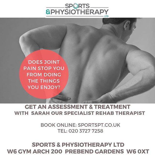 We have a few slots available tomorrow and Thursday with The fantastic Sarah. So if you have any issues book online (link in bio) or call. . . . . #fitness #rehab #rehabilitation #sportsmasage #sportstherapy #running #cycling #jointpain #recovery #chiswick #w4 #oesteoarthritis #pain #shepherdsbush #w6 #gym #achieve #physiotherapy