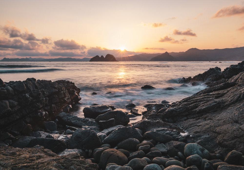 Sunset At Mawi Beach