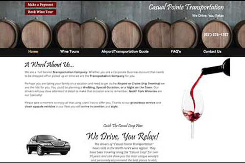 CasUal Pointe Transportation - 10% off wine tours & dinner transportation