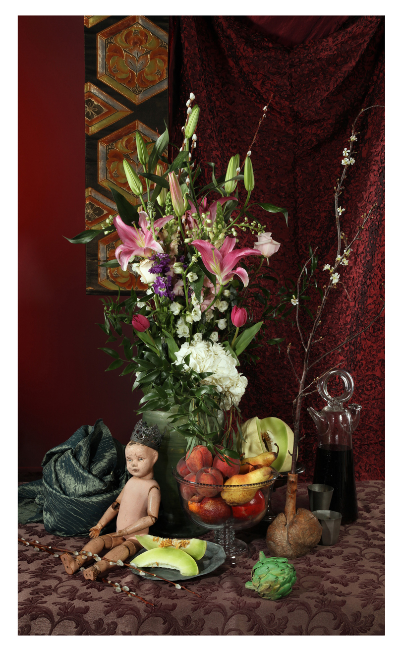 Pink Lilies with Doll King , 2018